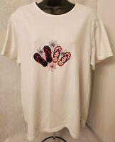 Studio Works Womens Multi Color Floral Flip Flop Shirt Top Blouse Size 2X