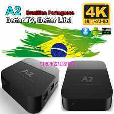 Newest A2 TV Box Well as HTV5 brazil live tv iptv&Portuguese drama/shows/movies