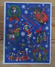 Hallmark GRINCH Christmas Sticker Sheet Vintage Dr. Seuss