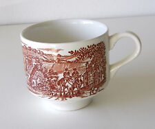 Vintage Brown & White Toile English Transferware Tea/Coffee Cup By Broadhurst