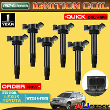 6x For Toyota Kluger Lexus RX330 RX400H 6 3.3L 3MZ-FE Ignition Coil 9091902246
