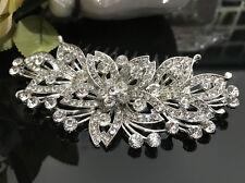 USA Seller wedding bridal crystal rhinestone silver tone hair comb 070830