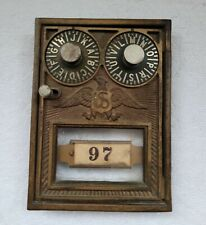 New ListingAntique Brass Us Post Office Box Mail Door Combo Double Locks Holiday Gift