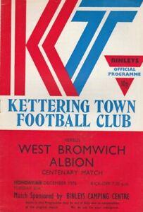 Kettering Town v West Bromwich Albion  06-Dec-1976