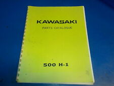 KAWASAKI 500 H1 PARTS CATALOGUE , USED