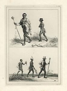 Antique Print-SURINAME-SLAVERY-PLANTATION CHEF-Madou-Benoit-1839
