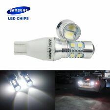 2 AMPOULES T15 W16W LED BLANC  10W FEUX DE RECUL ARRIERE VOITURE LAMPE