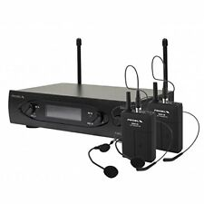 Proel WM101DH Wireless microphone UHF bodypack double bail two channels with