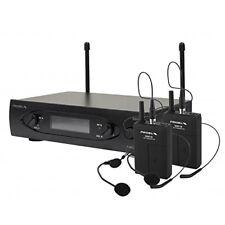 Proel WM101DH Microphone sans fil UHF bodypack double archet deux canali