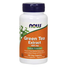 NOW FOODS Green Tea Extract 400mg+60mg Vit.C 100 capsule - the verde