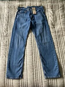 New! Levi's 505 Straight Leg Stretch Men's Jeans Size W32 x L32, Med Wash - NWT