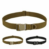 "1.5"" Men's Adjustable Tactical Combat Web Belt Buckle Military Rescue Waistband"