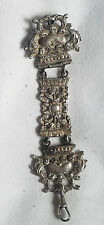 ANTIQUE ORNATE SOLID CAST 950 STERLING SILVER POCKET WATCH FOB