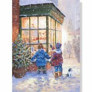Religious Christmas Winter Scene Advent Calendar with Glitter