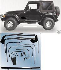 TJ 1997-2006 Jeep Wrangler black Complete SOFT TOP w/ Hardware TINTED WINDOWS