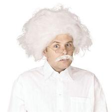 Einstein BIANCO #wig Mad Professor scienziato FANCY DRESS