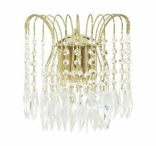 Searchlight - 5172-2 Waterfall Lead Crystal Wall Light with Gold Frame