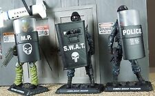 1/18 Scale Decals: Riot Shield POLICE and other markings - Waterslide Decals