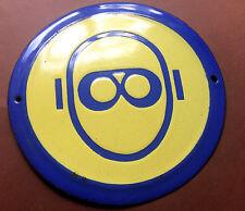 Vintage Tin Enamel Porcelain Sign Industrial Wear Safety Glasses Goggles 1970's