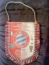 antiguo banderin bayern munchen fussball futbol football pennant 80´s