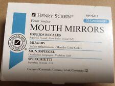 Dental Henry Schein  Mouth Mirror front surface Cone Socket #3  12/Box , Miltex