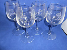 STELLA ARTOIS CIDRE SET OF FOUR 4 GLASSES 200 mL 6.75 oz 6.25 in WINE TASTER NEW