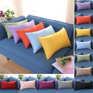 30x50cm Throw Pillow Case Cushion Cover Cotton Linen Rectangle Pillow Cases