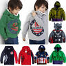 Kids Girl Boy Long Sleeve Hoodies Sweatshirt Hooded Pullover Sweater Jacket Coat
