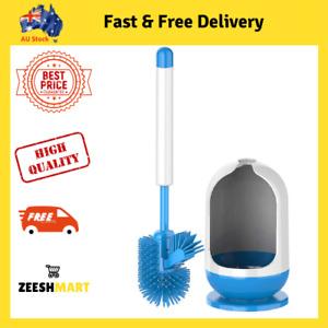 MR.SIGA Soft Bristle Toilet Brush Set With Holder Bathroom Cleaning Under-rim AU