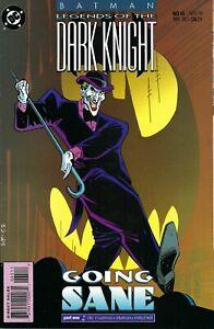 "Batman: Legends Of The Dark Knight #65-68 (1994) ""Going Sane"" Parts 1-4, Joker"