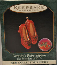 Hallmark  - Dorothy's Ruby Slippers - Wonders of Oz - Miniature Ornament - 1998