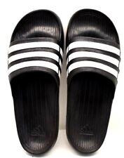 low priced dfb03 cd0a5 Diapositiva Adidas Duramo Negro Blanco EE. UU. Talla 13-Envío Gratuito-