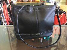 COACH Black Park Leather Mini Duffle Crossbody Bag F49160