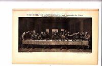1897 Leonardo da Vinci The Last Supper Antique German  Lithograph Print