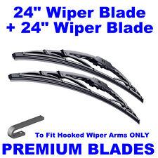 "Premium 24"" Inch & 24"" Inch Pair Front Windscreen Wiper Blades"