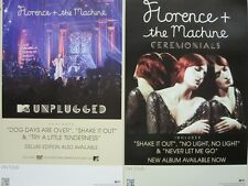 FLORENCE + THE MACHINE 2012  CEREMONIALS 2 SIDED PROMOTIONAL POSTER ~NEW~!
