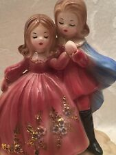Josef Originals Music Box Figurine Girl Boy Princess Prince The Impossible Dream