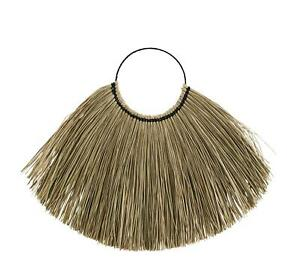 Natural Seagrass Wall Decoration Dried Grass Wall Hanging, Boho Tropical 110x72