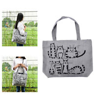 1pc Cat Shopping Tote Bag Big Canvas Handbag Shoulder Crossbody Bag Portable wn