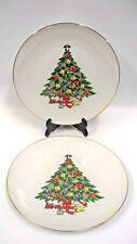 """Christmas Treasure by JAMESTOWN CHINA 2 Dinner Plates  10"""" Tree Toys"""