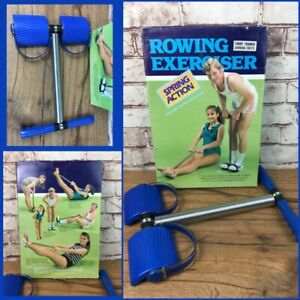Vintage Spring Action Rowing Exerciser Tummy Trimmer Resistance Training Home