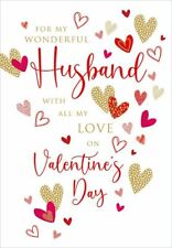Valentines Day Card Husband Assorted Hearts
