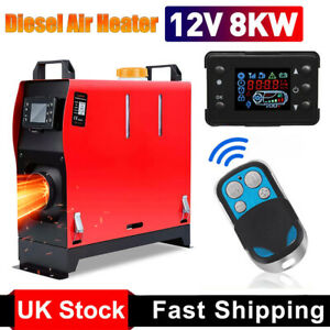 12V Air Diesel Night Heater 8KW LCD Monitor Remote For Lorry MotorHomes Car SUV