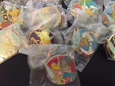 Disney Disneyland Attractions Tinker Bell Carousel Train Tower Mystery 9 Pin Set