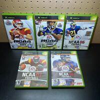 5 Game Lot-NCAA Football 2004,2005,2006,2007, & 2008 (Microsoft Xbox) w/ Case