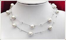 """""""SCHNÄPPCHEN""""_Wunderschöne Perlenkette m weiß schimmernden Perlen_Perlen Collier"""