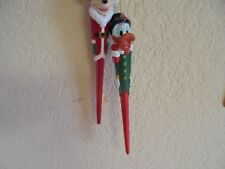 Vintage Disney Mickey Mouse and Donald Duck Scrooge Christmas Ornaments
