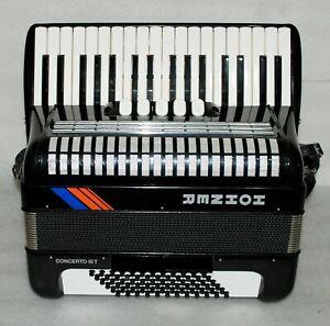 HOHNER CONCERTO III T 72 BASS Piano Accordion Akkordeon Fisarmonica Excellent