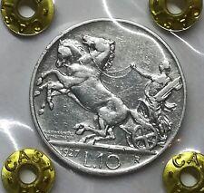 Regno d' italia 10 lire 1927** V.E.III biga