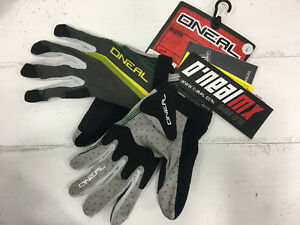 O'Neal AMX Full Finger Cycling Gloves (Yellow green)
